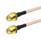 SMA Female to SMA Female Cable Using RG316 Coax