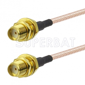 6Ghz SMA Female Bulkhead to SMA Female Bulkhead Cable Using RG316 Coax