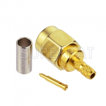 Superbat DC-6GHz SMA Male RF Connector Crimp for RG174 RG316 Gold Plated