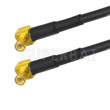 MCX Plug Right Angle to MCX Plug Right Angle Cable Using RG174 Coax