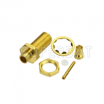 DC0-6GHz SMA Jack Female Connector Straight Bulkhead Crimp RG316