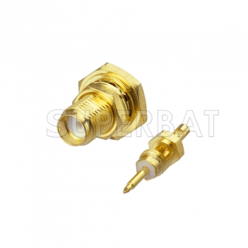 RP SMA Jack Male Straight Bulkhead O-Ring Connector for 1.13mm cable