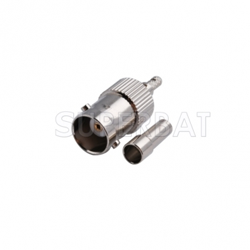 RF coaxial coax cable BNC Jack straight connector silver Cable