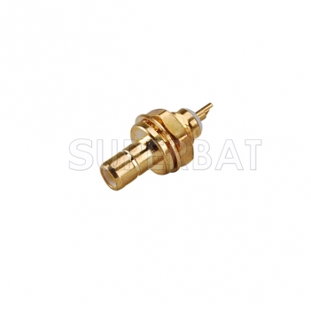 SMB Jack Male Straight Bulkhead Solder Connector