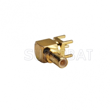 SMB Jack Male Connector Right Angle Solder