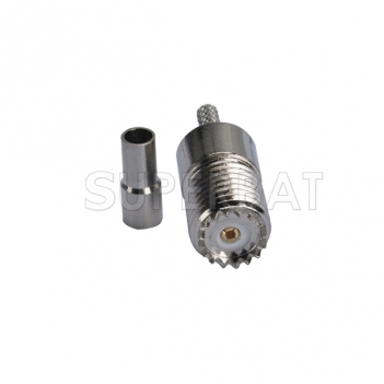 Mini UHF Jack Female Connector Straight Crimp RG316