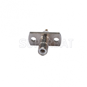 SMB Jack Male Connector Straight 2 Hole Flange Solder