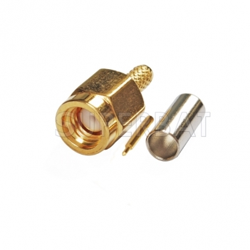 SSMA Plug Male Connector Straight Crimp RG316