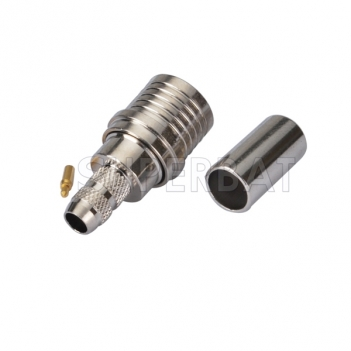 QMA Plug Male Connector  Straight Crimp LMR-195