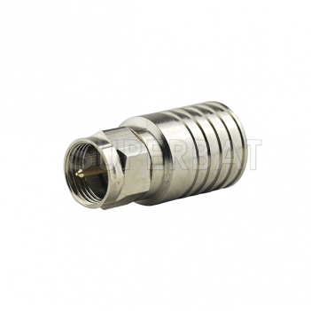F Plug Male Connector Straight Crimp RG11