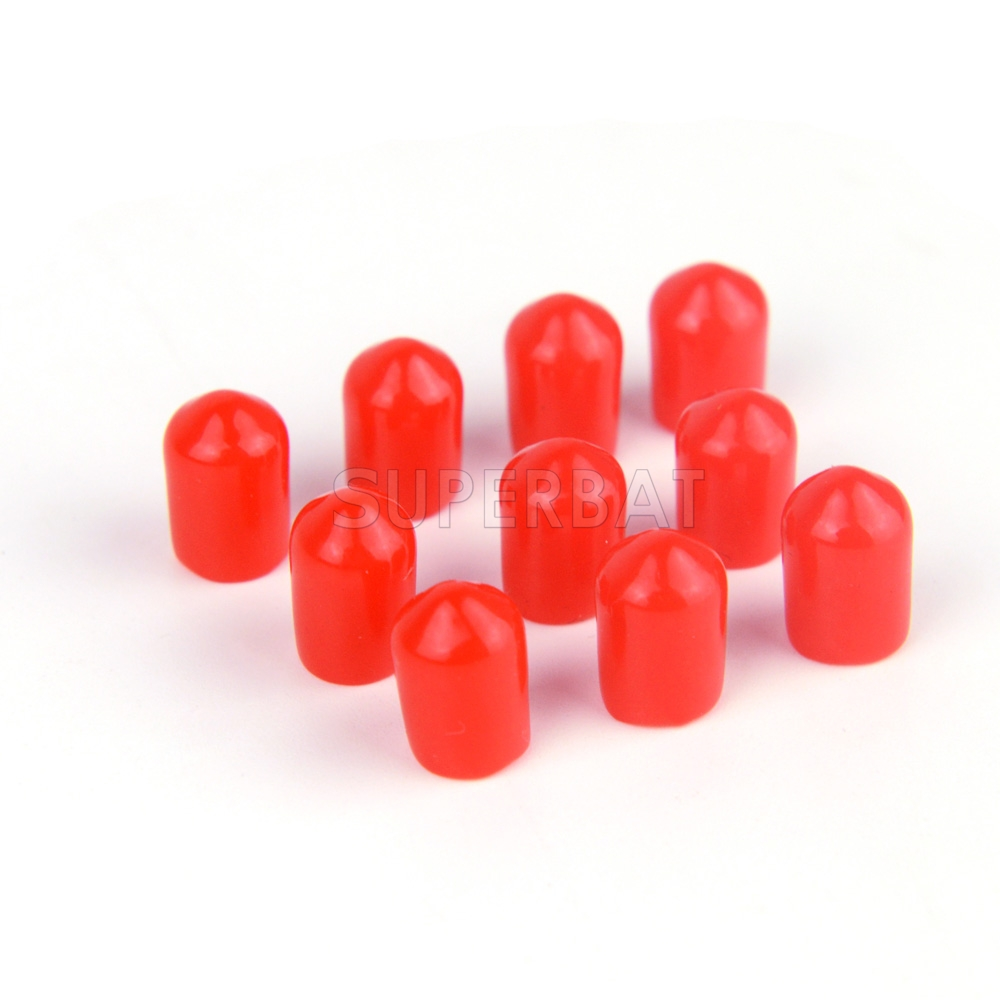 100pcs Sma Plastic Covers Dust Cap Red For Sma Jack Female