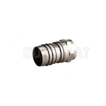 F Plug Male Connector Straight Crimp RG6
