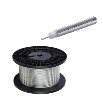 Superbat Diameter With Tinned Copper Braid Conductor Outer 0.250 Cable Conductor Semi Rigid Coax Cable /1 Meter