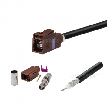 GPS glonass Antenna cable/GSM antenna extension cable/SMA cable: FAKRA male straight to SMA female straight with RG58