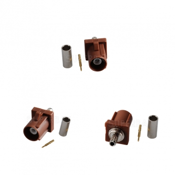 Superbat Fakra F Brown /8011 male connector TV2 for RG316 RG174 LMR100