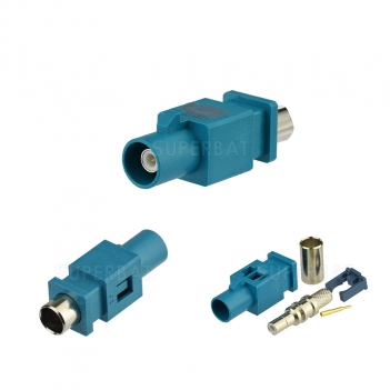 Fakra Z Plug Crimp Connector Attachment for LMR195 RG58 Cable Global Positioning Satellite