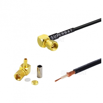 New products right angle plug SMC connector custom coaxial cable assembly