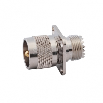 RF Coaxial Coax Antenna Adapter UHF SO239 SO-239 female to UHF Male pl259 PL-259 Connector Straight 4 Hole Flange Adapter