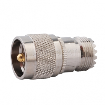 RF Coaxial Coax Antenna Adapter UHF Male PL-259 to UHF Female SO-239 Straight Connector Adapter