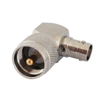 RF Coaxial Coax Handheld Radio Antenna Adapter BNC Female to UHF Male PL259 PL-259 Right Angle Connector Adaptor