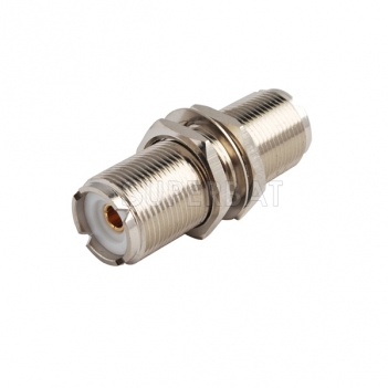RF Coaxial Coax Antenna Adapter  UHF Female so-239  to SO239 Female Jack Bulkhead with Nut Panel Mount Connector Straight Adapter