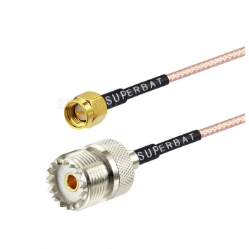 Male SMA to female UHF straight for RG316 custom coaixal cable assembly
