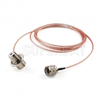 RF coaxial UHF Male PL259 to UHF Female SO239 Right Angle Coax Connector Pigtail Jumper RG316 Extension Cable-Ham Radio Antenna Adapter Cable Assembly