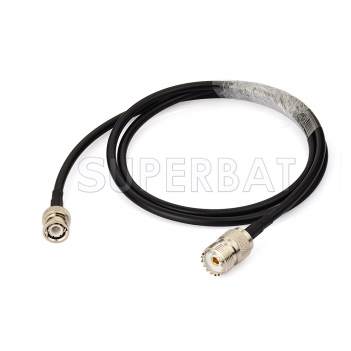 RF coaxial coax BNC Male to UHF Female SO239 Connector Pigtail Jumper RG58 Extension Cable Ham Radio Antenna Adapter Cable Assembly