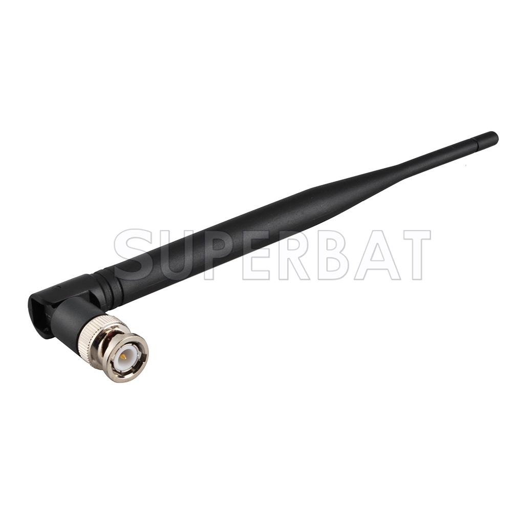 Superbat Omni-direction Rubber BNC Male Small Flexible