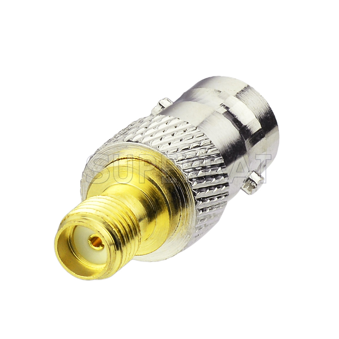 BNC male plug to F-Type F female jack RF coaxial cable adapter convertor TV