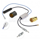 FM/AM to DAB/DAB+FM/AM car radio aerial converter/splitter/Amplifier r with SMB Connector
