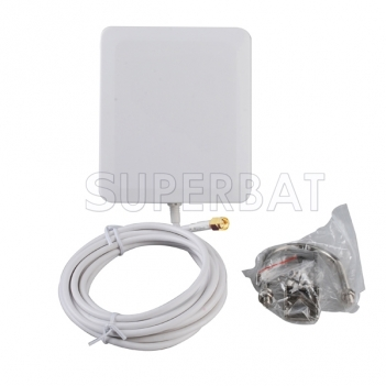 4G LTE Antenna Aerial 2300-2700Mhz 10dbi Panel mount SMA Connector