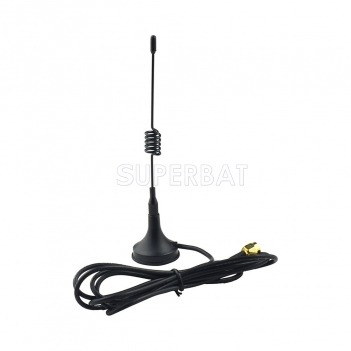 NEW!!Antenna 433Mhz,3dbi SMA Plug with Magnetic base,3m cable for Ham Radio