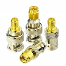 4pcs BNC To SMA Type Male Female RF Connector Adapter Test Converter Kit Set New