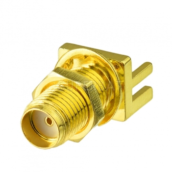 SMA female jack End Launch PCB Mount  straight RF connector adapter
