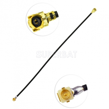 RF coaxial coax cable assembly U.FL plug RA panle receptacle to U.FL  Female ringht angle 1.13MM cable 10cm