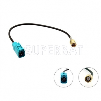 Superbat Fakra Female to SMA Male Aerial Adaptor for Radio Antenna