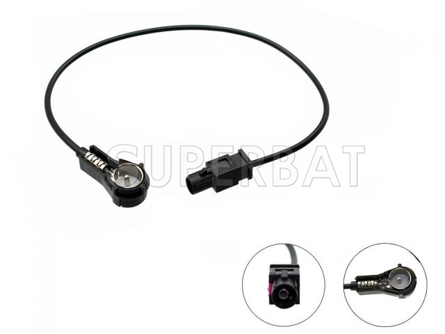 car radio fakra male to iso aerial antenna adaptor cable