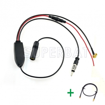 DAB Car radio antenna FM/AM to DAB/FM/AM aerial Amplifier/converter/splitter and MMCX Aerial adaptor cable