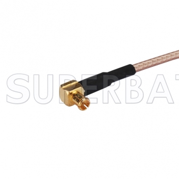 BNC Female Bulkhead with O-ring to MCX Male Right angle 75 Ohm RF Cable RG179 MCX male to BNC