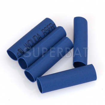 Wire Wrap Sleeve 3.5 mm Dia 18 mm Long Heat Shrink Tubing 100Pcs blue