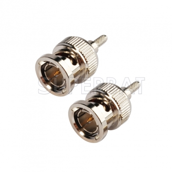 2pcs HD sdi cable RFconnector BNC male right angle crimp RG179 for CCTV Security Video Surveillance Camera