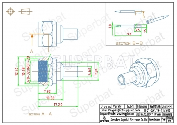 F Plug Male Connector Straight Crimp LMR-195