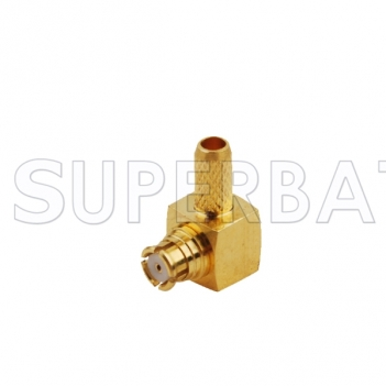 SMP Crimp Jack Right Angle RF Connector for LMR100