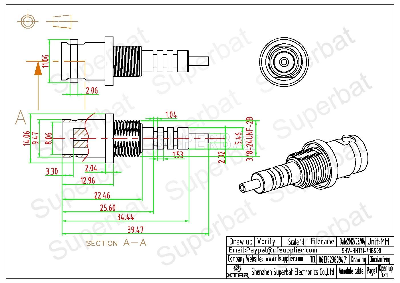 Rf Bnc Connector Jack Nut Bulkhead Solder For Panel Mhv 3000v