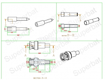 SHV Plug Male Connector Straight Crimp for LMR-240