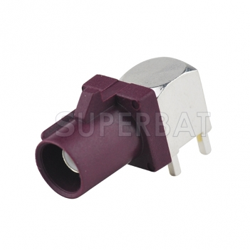 Fakra SMB Plug PCB mount angled Male connector Purple for GSM,GPS system