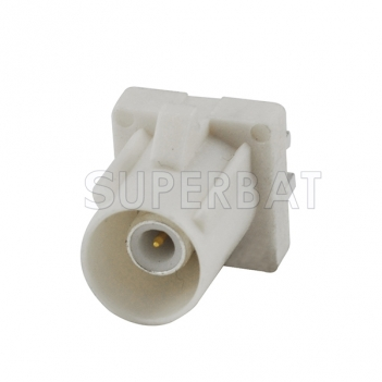 Fakra Plug End Launch PCB mount connector white Radio With Phantom