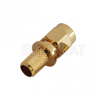 50 Ohm RF SMA Connector Plug Straight Crimp Attachment for LMR240