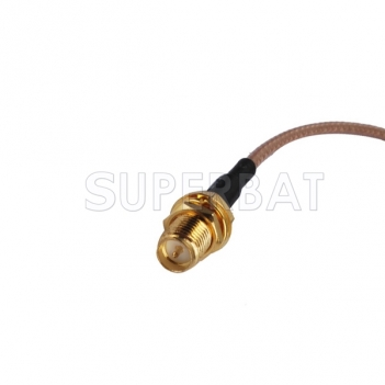 "Rf Connector Fakra ""C"" Male to Rp-sma Jack Bulkhead Straight Assembly Extension Coaxial Cable Rg316 30cm for Gps Antenna"